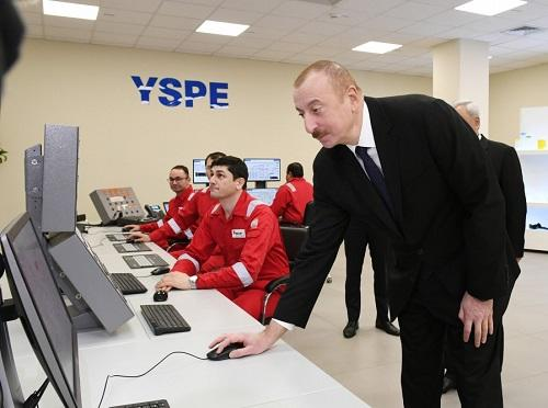 Ilham Aliyev attended the opening of a new enterprise -