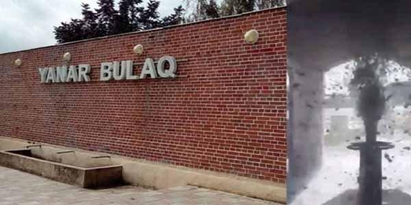 Azərbaycanda qeyri-adi olay: Bulaqdan palçıq püskürdü - Video