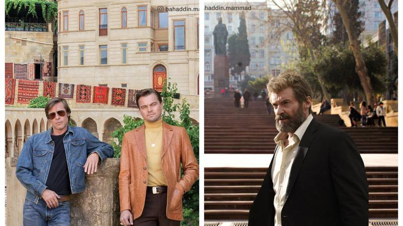 """Di Kaprio, Bred Pitt və digər məşhurlar Bakıya """"gəldi"""" - Foto"""