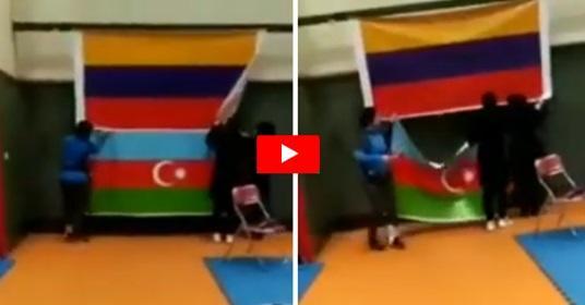 İranda Azərbaycan bayrağı davası: Zəhra qürur verdi – Video