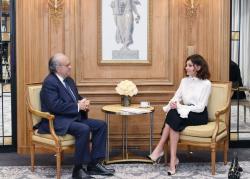 Mehriban Aliyeva met with David Khayat