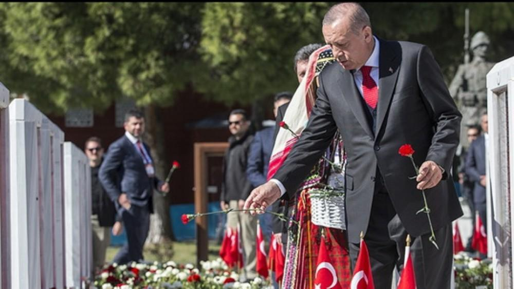 Erdogan recalled the Canakkale martyrs -