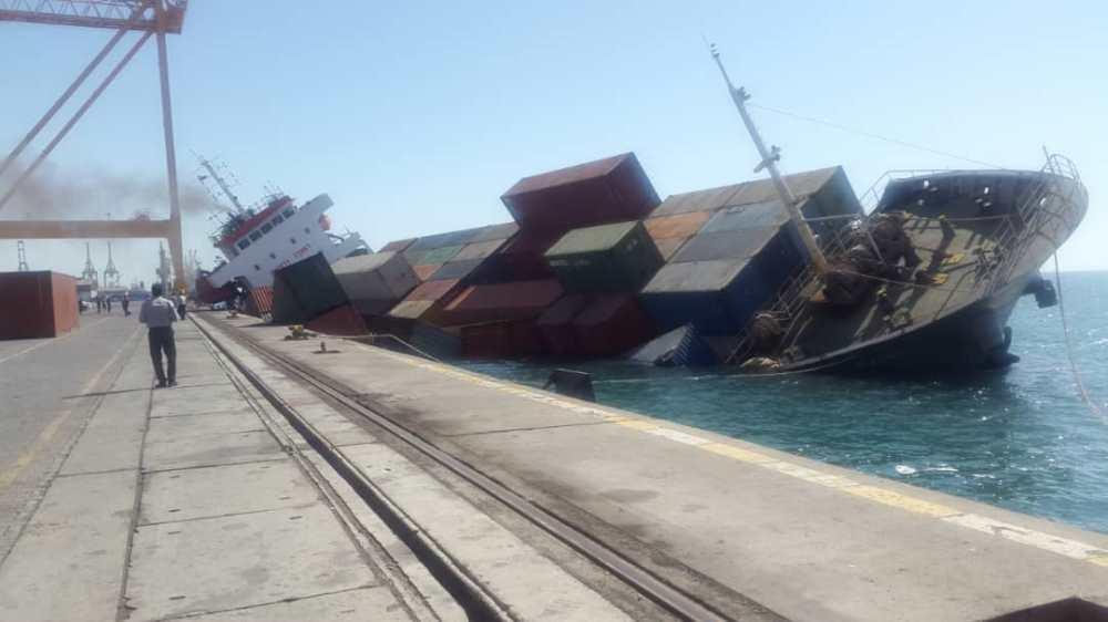 An Iranian ship sank in Iraq: 2 dead