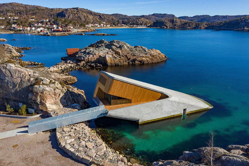 Avropanın dənizaltı restoranı Norveçdə açıldı - Foto