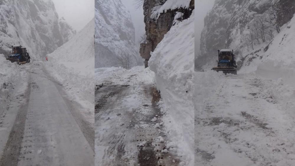Quba - Xınalıq yolu açıldı - Foto
