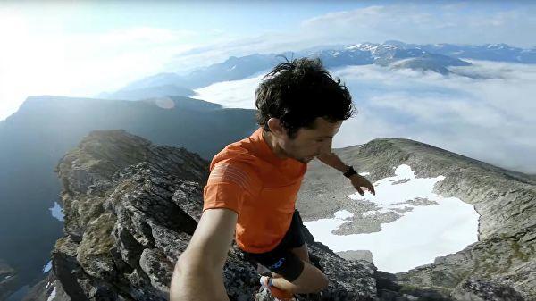 Испанец покорил сеть прогулкой под облаками - Видео