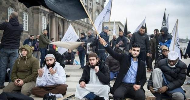 В Дании радикалы публично сожгли Коран - Фото