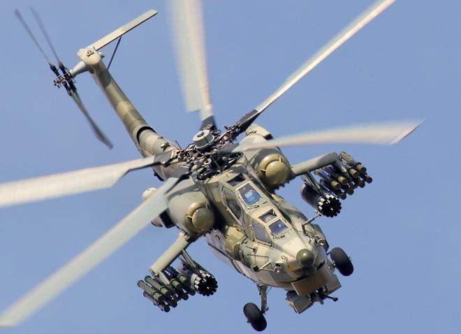 Rusiyanın zərbə helikopteri qəzaya düşdü, pilotlar öldü