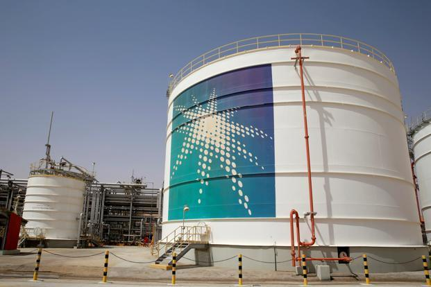 Saudi Aramco's revenues fell by 4 time