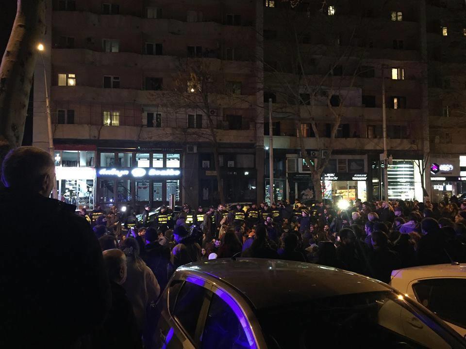 В Тбилиси проходит митинг