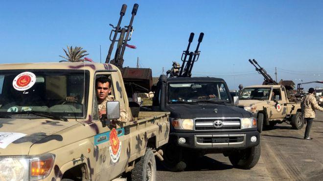 Libyan army takes district in Tripoli