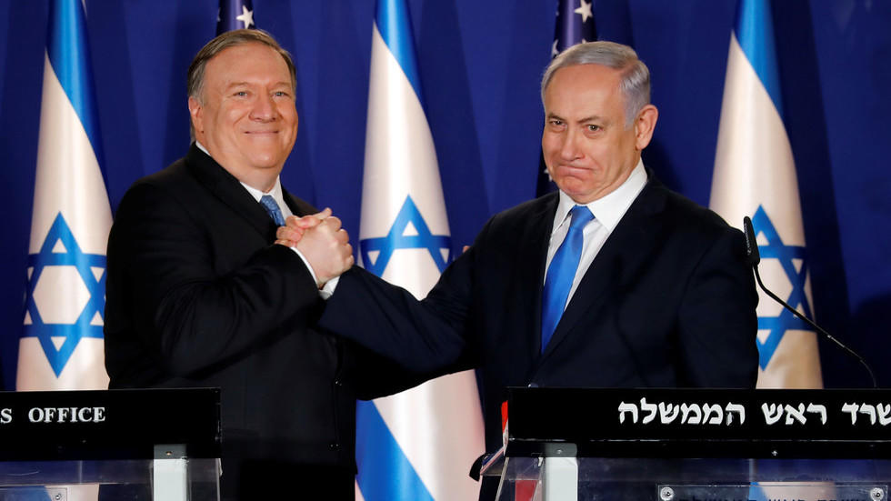 پومپئو نتانیاهو ایله گؤروشده ایرانین  فعالیتینی مذاکیره ائتدی