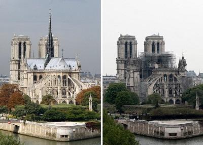 В Париже возобновили работы по укреплению Нотр-Дама