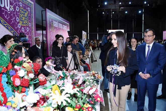"Leyla Aliyeva views exhibition called ""Joys of Spring"" -"