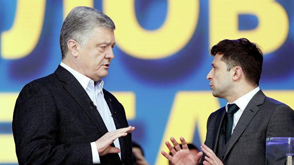 Zelensky - Poroshenko debate began