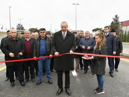 İlham Əliyev yeni yolu açdı - Fotolar