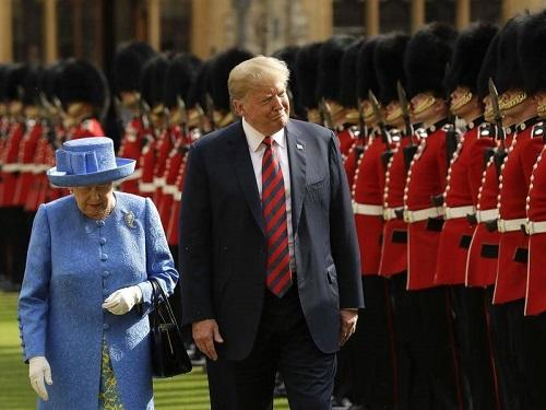 Queen Elizabeth II complains about lawn 'ruined' by Trump