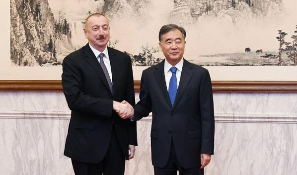 President Aliyev meets with Wang Yang