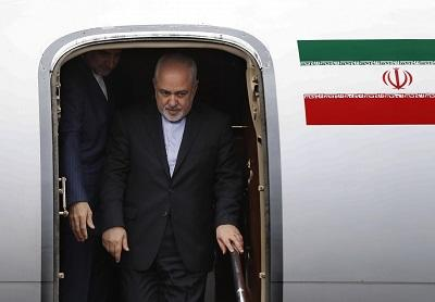 Zarif's plane is at the G7 summit