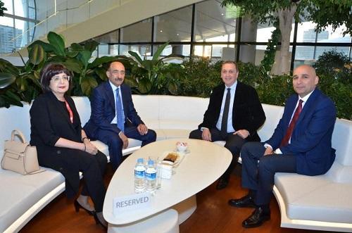 Əbülfəs Qarayev gürcü nazir müavini ilə görüşdü