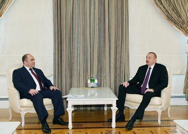 İlham Əliyev Belarus baş nazirinin müavini ilə görüşdü