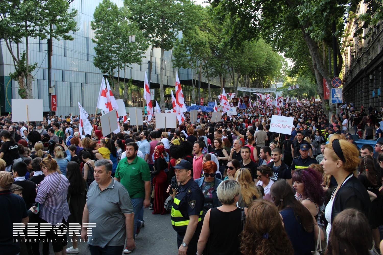 В Тбилиси продолжаются акции протеста