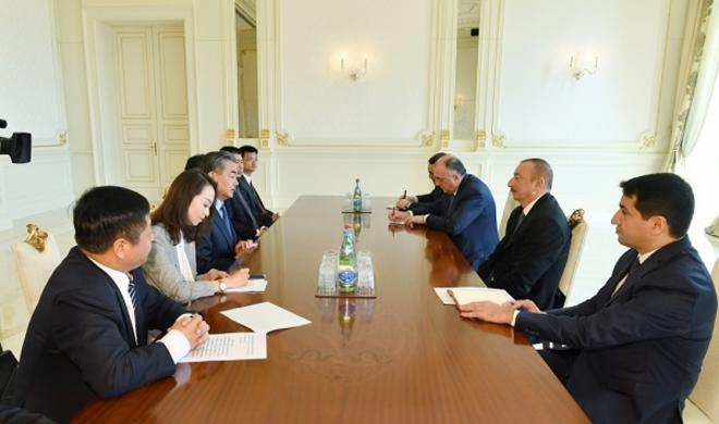 Ilham Aliyev met with China FM