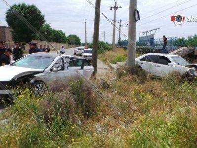 Ermənistanda yol qəzası: hərbi polis yaralandı