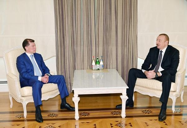 President Ilham Aliyev received Maxim Topilin