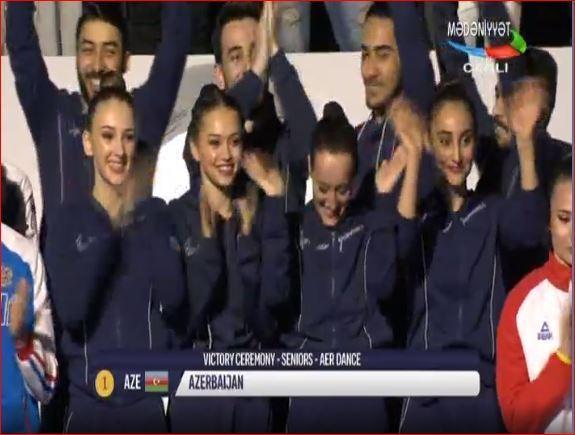 Akrobatlarımız Avropada qızıl medal qazandı
