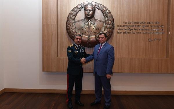 Elçin Quliyev Gürcüstan Sərhəd Polisinin rəisi ilə görüşdü