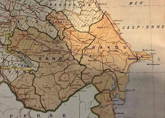 Azərbaycan və Ermənistan: 1918-ci il xəritəsi - Foto