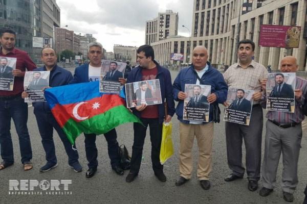 Moskvada Fuad Abbasova görə aksiya - Foto