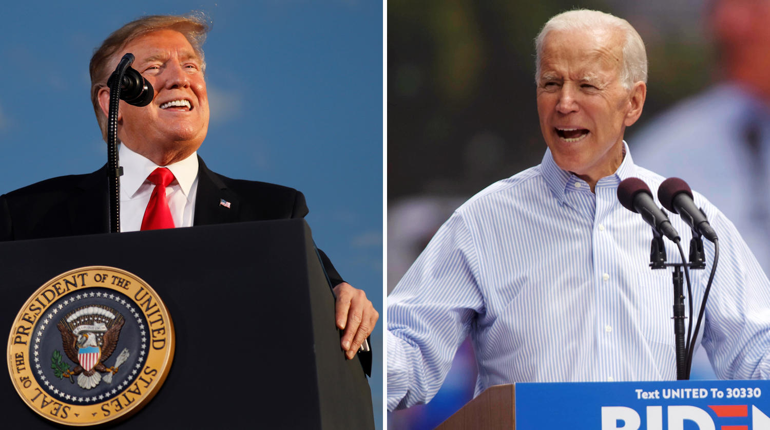 Biden seeks to capitalize on Trump's icy reception