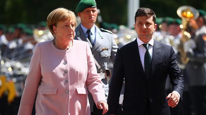 Zelensky, Merkel hold phone talks on Donbas