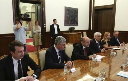 Serbiya prezidenti Kamal Abdulla ilə görüşdü - Foto