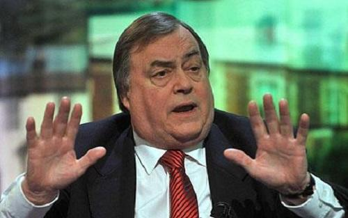 John Prescott in hospital after suffering a stroke