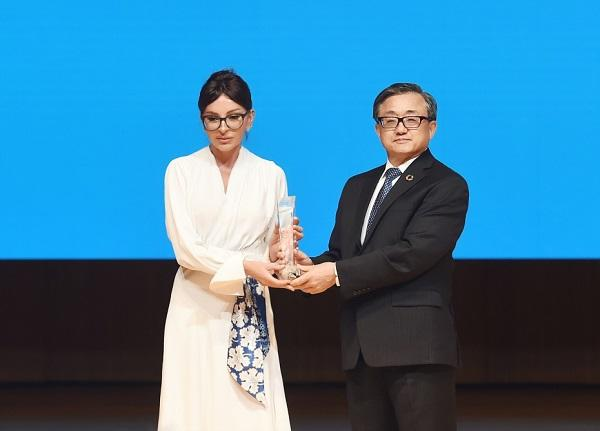 Mehriban Aliyeva awarded a special UN award