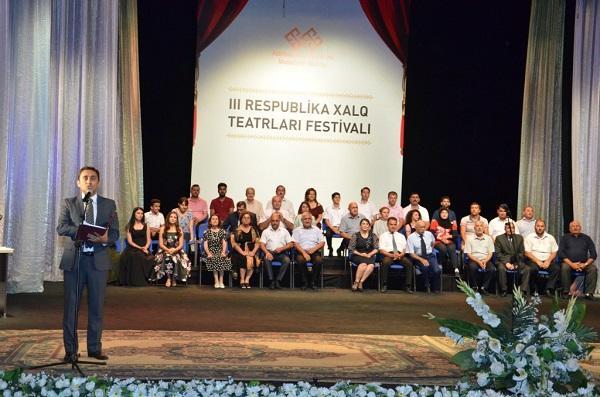 III Respublika Xalq Teatrları Festivalı başa çatdı