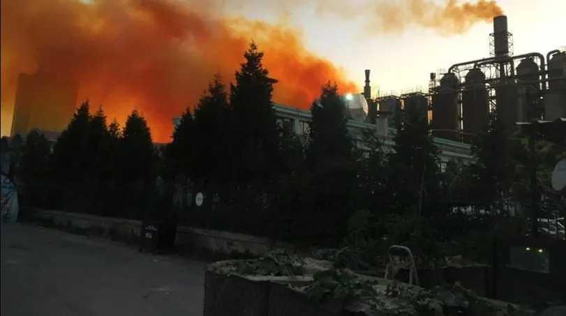 В Китае на заводе произошел взрыв