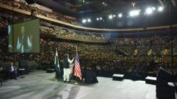 Pakistani PM Khan gathers thousands in US capital