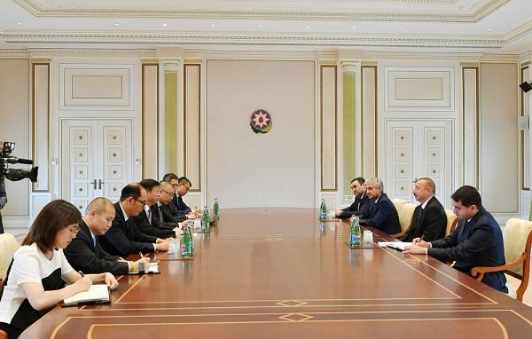 Aliyev received delegation of Communist Party of China
