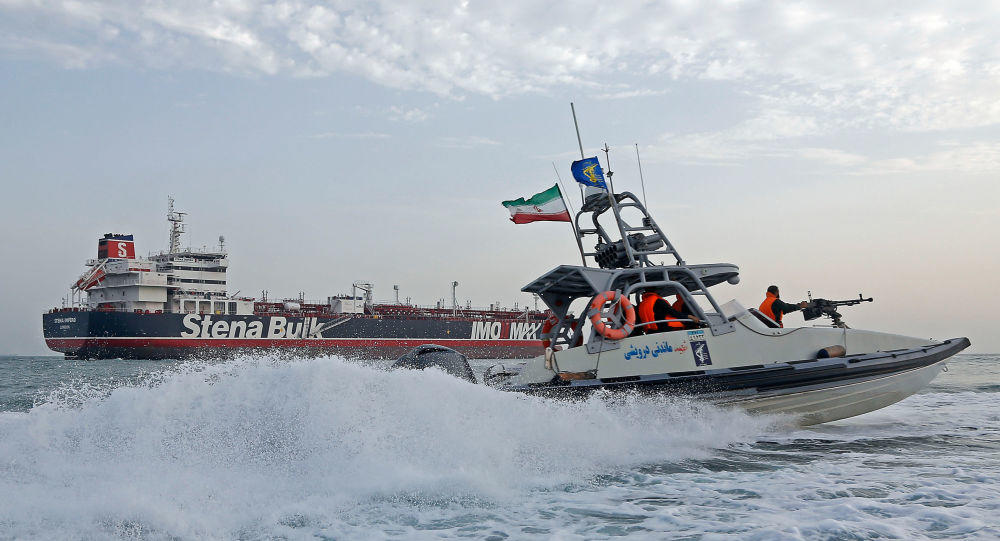 Iranian flag sween hoisted over seized British tanker