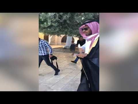 Fələstinlilər səudiyyəli fəala Qüdsdə hücum etdilər - Video