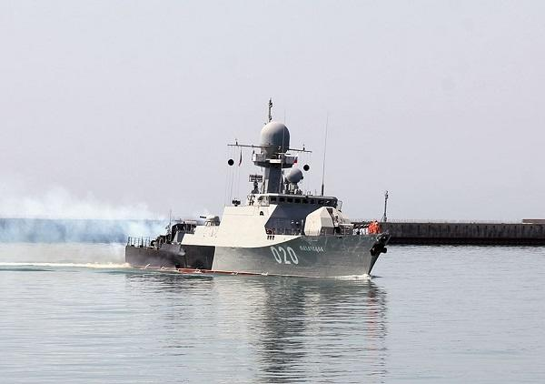 Russia launched its Caspian fleet