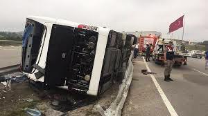 Türkiyədə rusiyalı turistləri daşıyan avtobus aşdı