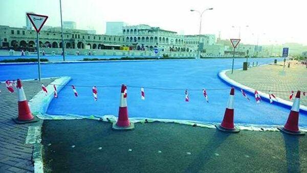 Дороги голубого цвета появились в Катаре