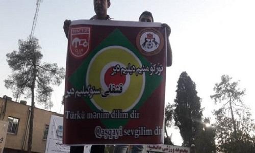 """Qaşqaylar: """"Yaşasın Azərbaycan!"""" - Foto"""