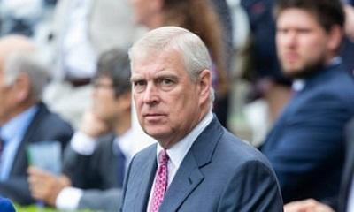 Prince Andrew seen for first time since stepping back