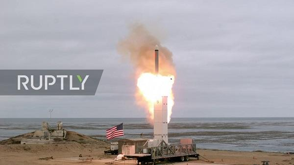 US released footage of missile test -